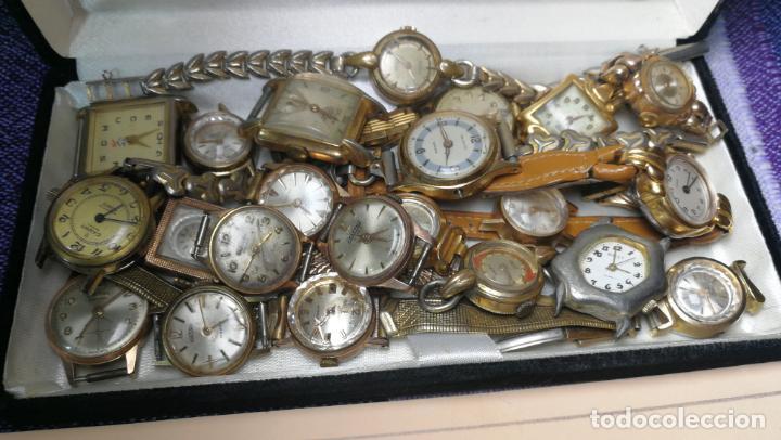 Recambios de relojes: Lote de 23 relojes están sin comprobar por tanto para reparar, repasar o piezas - Foto 5 - 140277198