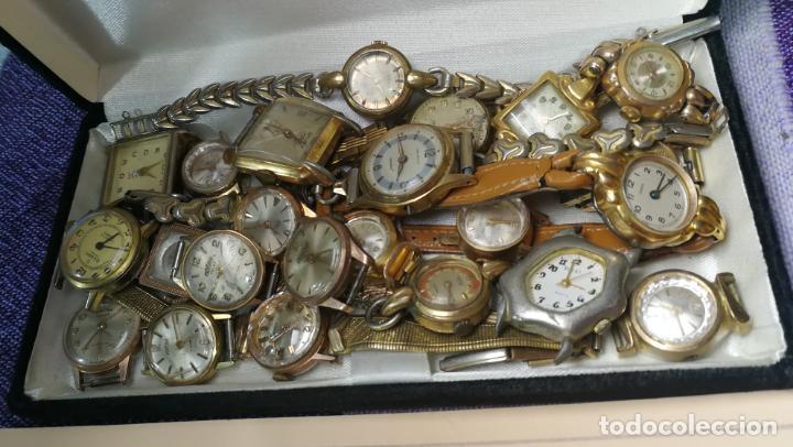 Recambios de relojes: Lote de 23 relojes están sin comprobar por tanto para reparar, repasar o piezas - Foto 7 - 140277198
