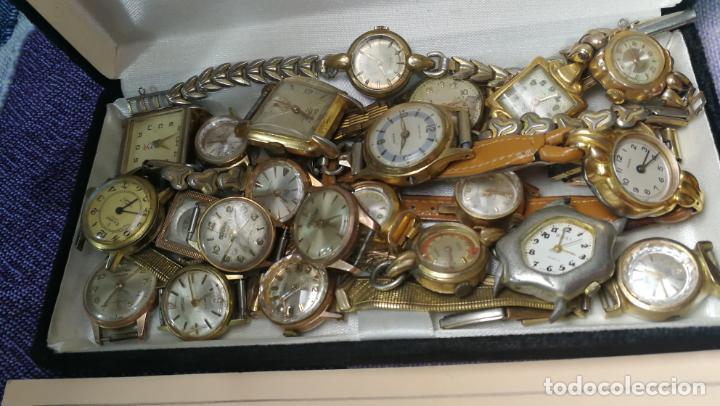 Recambios de relojes: Lote de 23 relojes están sin comprobar por tanto para reparar, repasar o piezas - Foto 8 - 140277198