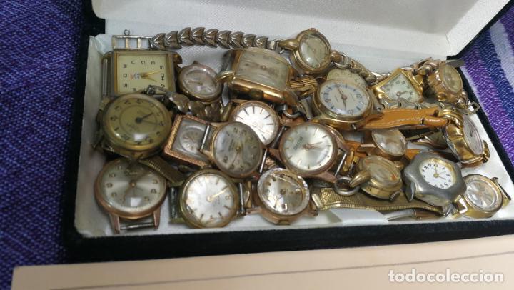 Recambios de relojes: Lote de 23 relojes están sin comprobar por tanto para reparar, repasar o piezas - Foto 9 - 140277198