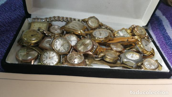 Recambios de relojes: Lote de 23 relojes están sin comprobar por tanto para reparar, repasar o piezas - Foto 10 - 140277198