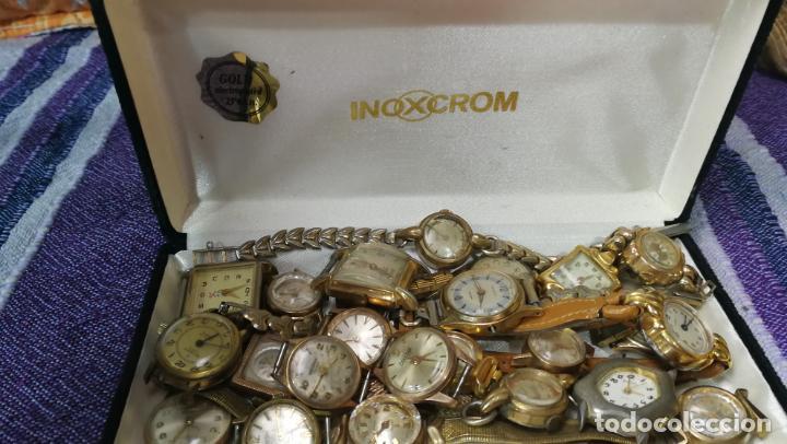 Recambios de relojes: Lote de 23 relojes están sin comprobar por tanto para reparar, repasar o piezas - Foto 11 - 140277198