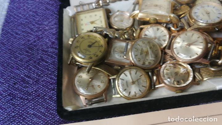 Recambios de relojes: Lote de 23 relojes están sin comprobar por tanto para reparar, repasar o piezas - Foto 12 - 140277198