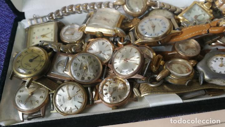 Recambios de relojes: Lote de 23 relojes están sin comprobar por tanto para reparar, repasar o piezas - Foto 13 - 140277198