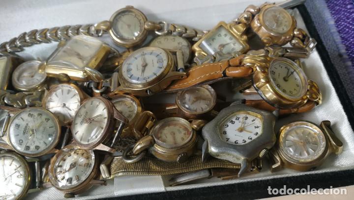Recambios de relojes: Lote de 23 relojes están sin comprobar por tanto para reparar, repasar o piezas - Foto 14 - 140277198