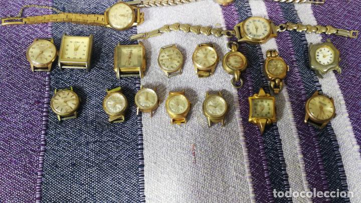 Recambios de relojes: Lote de 23 relojes están sin comprobar por tanto para reparar, repasar o piezas - Foto 26 - 140277198