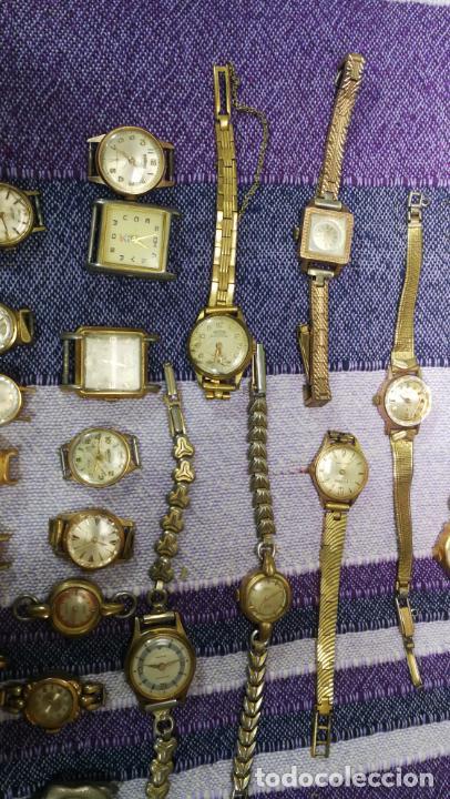 Recambios de relojes: Lote de 23 relojes están sin comprobar por tanto para reparar, repasar o piezas - Foto 30 - 140277198