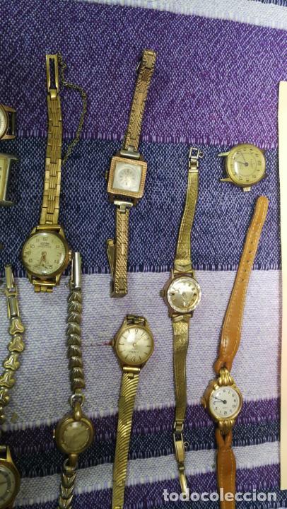 Recambios de relojes: Lote de 23 relojes están sin comprobar por tanto para reparar, repasar o piezas - Foto 31 - 140277198