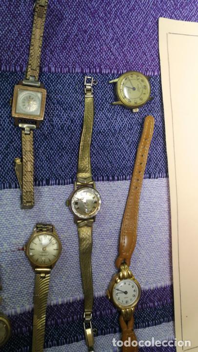 Recambios de relojes: Lote de 23 relojes están sin comprobar por tanto para reparar, repasar o piezas - Foto 32 - 140277198
