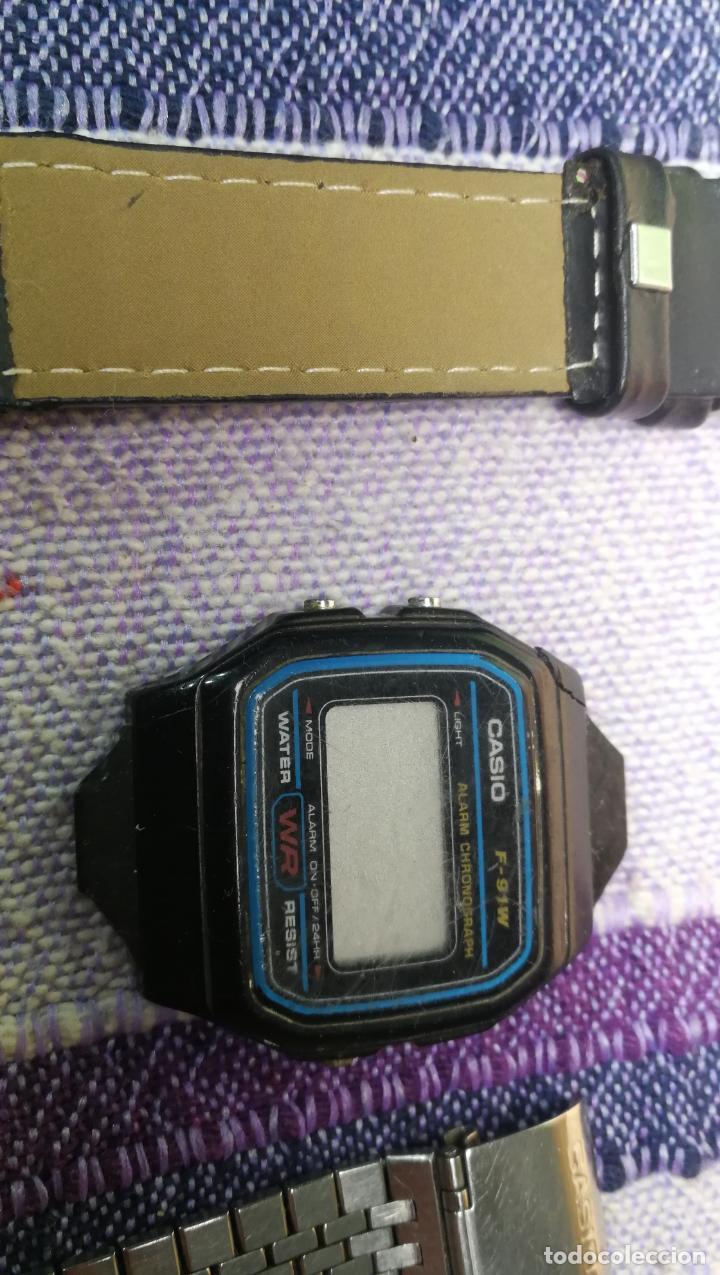 Recambios de relojes: Lote de 8 relojes VARIADOS están sin comprobar por tanto para reparar, repasar o piezas - Foto 9 - 140278422