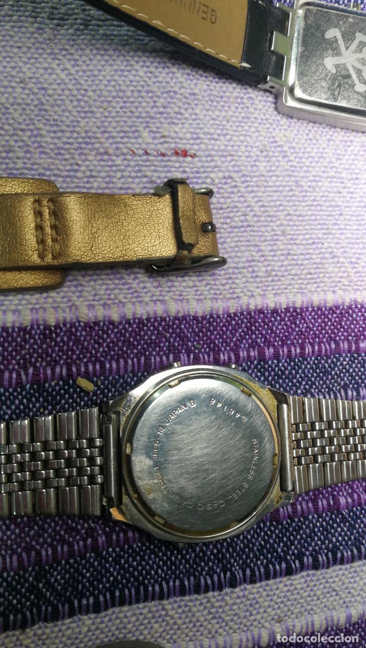 Recambios de relojes: Lote de 8 relojes VARIADOS están sin comprobar por tanto para reparar, repasar o piezas - Foto 14 - 140278422
