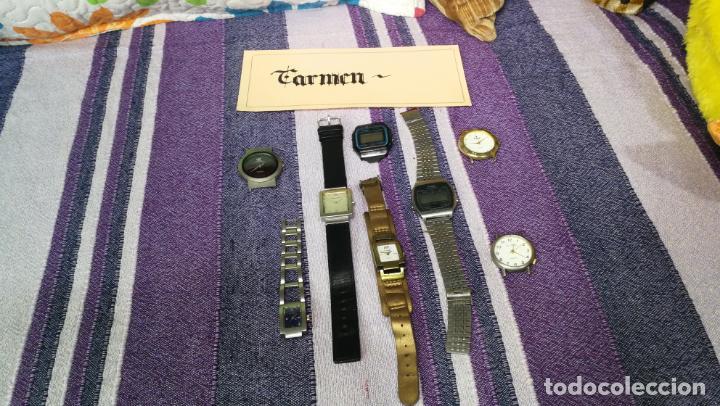 Recambios de relojes: Lote de 8 relojes VARIADOS están sin comprobar por tanto para reparar, repasar o piezas - Foto 19 - 140278422