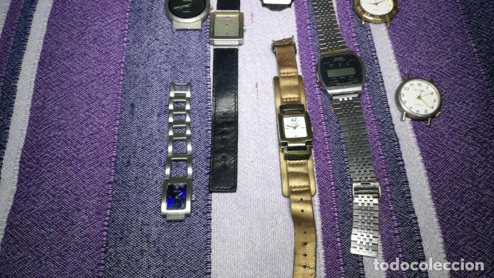 Recambios de relojes: Lote de 8 relojes VARIADOS están sin comprobar por tanto para reparar, repasar o piezas - Foto 20 - 140278422