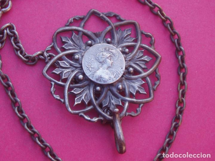 Recambios de relojes: Cadena con Broche Antiguo Modernista para Reloj - Foto 2 - 141593746