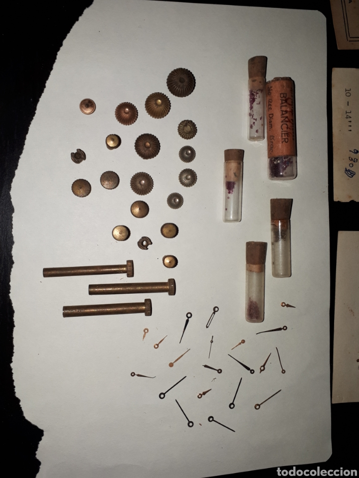 Recambios de relojes: Lote recambios relojes antiguos A - Foto 2 - 142112322