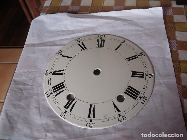 Recambios de relojes: ANTIGUA ESFERA ABOMBADA PARA RELOJ MOREZ PESAS- LOTE 112 - Foto 2 - 152214697