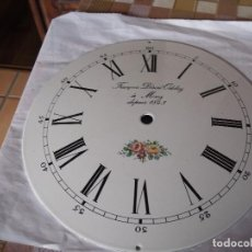 Recambios de relojes: ANTIGUA ESFERA ABOMBADA PARA RELOJ MOREZ PESAS- LOTE 112. Lote 142247794