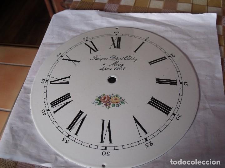 Recambios de relojes: ANTIGUA ESFERA ABOMBADA PARA RELOJ MOREZ PESAS- LOTE 112 - Foto 2 - 142247794