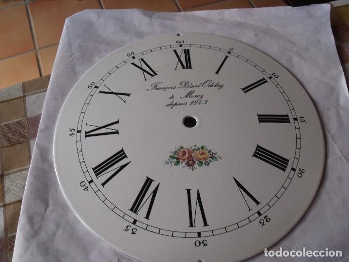 Recambios de relojes: ANTIGUA ESFERA ABOMBADA PARA RELOJ MOREZ PESAS- LOTE 112 - Foto 3 - 142247794