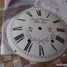 Recambios de relojes: ANTIGUA ESFERA ABOMBADA PARA RELOJ MOREZ PESAS- LOTE 112. Lote 144100625