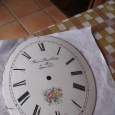Recambios de relojes: ANTIGUA ESFERA ABOMBADA Y OVALADA PARA RELOJ PESAS- LOTE 112. Lote 142248242
