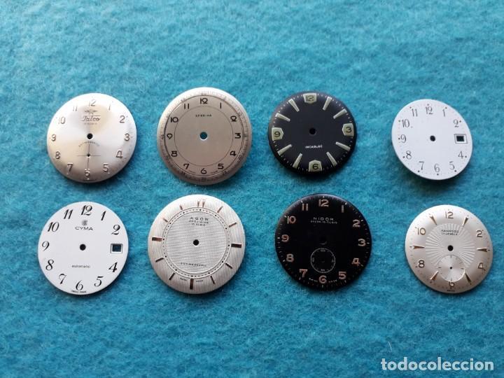 LOTE DE 8 ESFERAS DE RELOJES DE PULSERA PARA CABALLERO (Relojes - Recambios)
