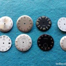 Recambios de relojes: LOTE DE 8 ESFERAS DE RELOJES DE PULSERA PARA CABALLERO. Lote 142647662
