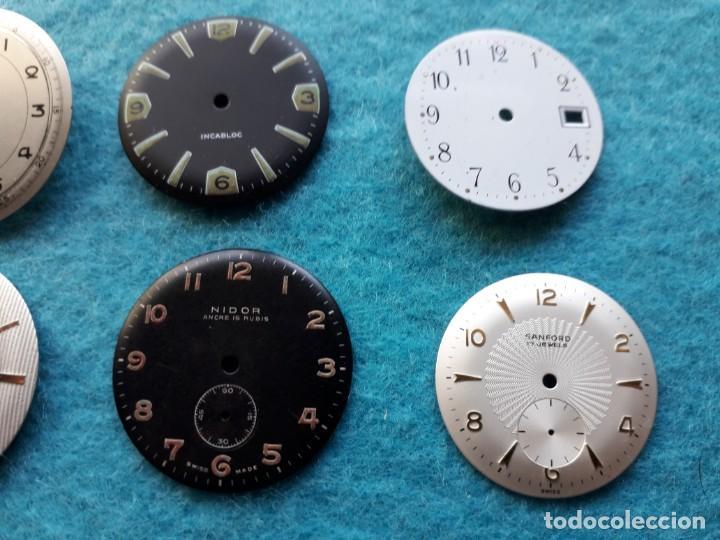 Recambios de relojes: Lote de 8 esferas de Relojes de pulsera para caballero - Foto 2 - 142647662