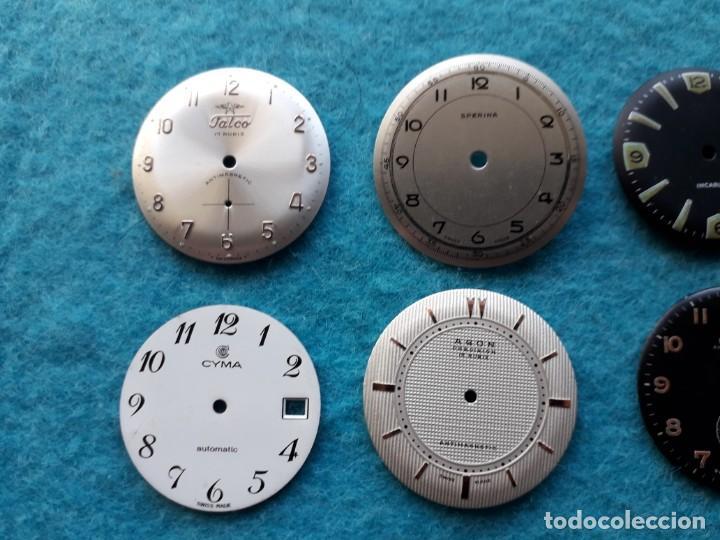 Recambios de relojes: Lote de 8 esferas de Relojes de pulsera para caballero - Foto 3 - 142647662