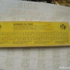 Recambios de relojes: GRAN SURTIDO DE BUCHONES BERGEON- LOTE 114. Lote 143281378
