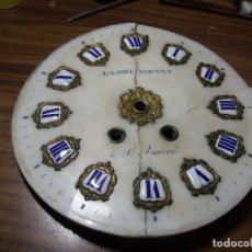Recambios de relojes: ANTIGUA ESFERA EN ALABASTRO PARA OJO BUEY PARIS- LOTE 148 - PARA RESTAURAR O PIEZAS. Lote 143565370