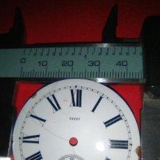 Recambios de relojes: ESFERA PORCELANA PARA RELOJ BOLSILLO. Lote 145401270