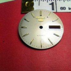 Recambios de relojes: ESFERA COMPLETA EN GRIS FLOJO SEIKO 5. Lote 145814930