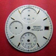 Recambios de relojes: SEIKO CRONO - ESFERA BLANCA. Lote 145962218