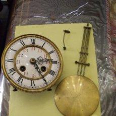 Recambios de relojes: ANTIGUA MAQUINARIA PARA RELOJ ALFONSINO O REGULADOR-LOTE 156. Lote 146237102