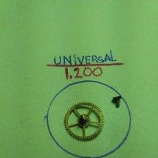 Recambios de relojes: UNIVERSAL - 1200 - RUEDA CENTRO Y SU CAÑON DE MINUTOS. Lote 146239162