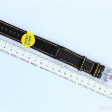 Recambios de relojes: LIQUIDACION CORREA MORELLATO TECHNO CARBONIO 20-22 MM WATER PROOF. Lote 147170558
