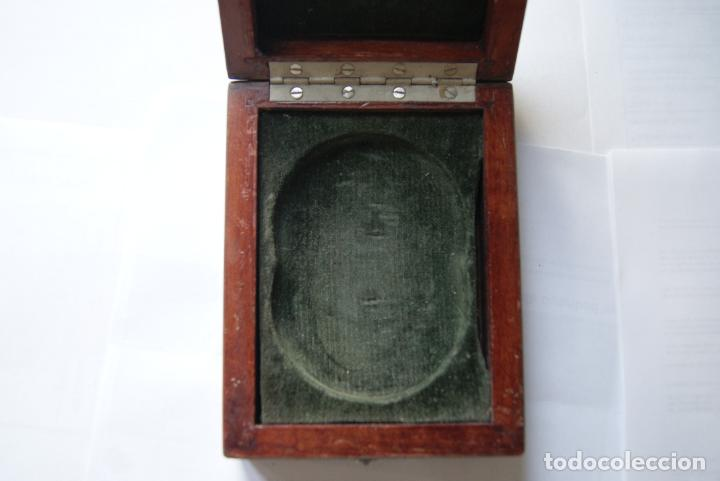 Recambios de relojes: PRECIOSA Y ANTIGUA CAJA MADERA RELOJ BOLSILLO GOLLIAT - Foto 2 - 147338790