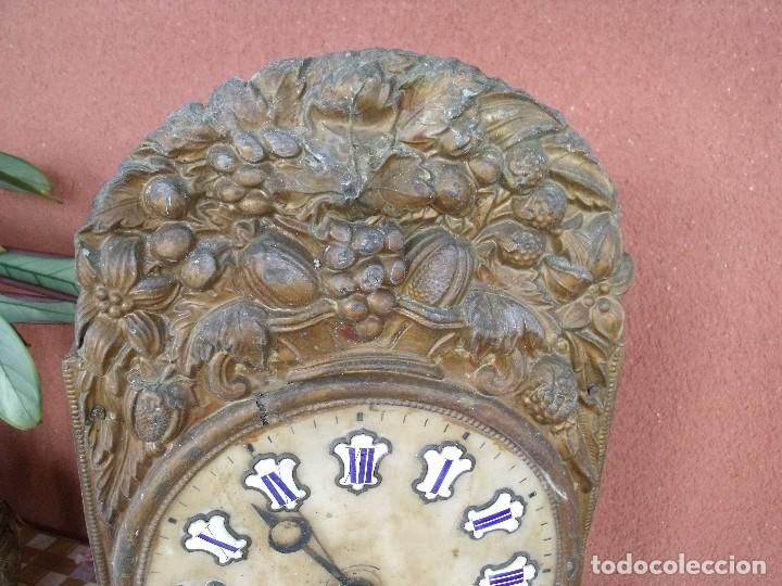 Recambios de relojes: ¡¡GRAN OFERTA !! Antigua MAQUINARIA MOREZ -año 1880-REPITE HORAS- para restaurar o piezas-lote 2 - Foto 3 - 148400566