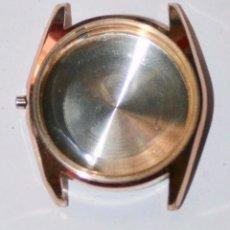 Recambios de relojes: CAJA CHAPADA EN ORO DE RELOJ CAUNY ( MEDIDAS VER LAS FOTOS ). Lote 126260851