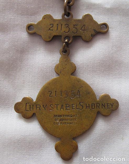 Recambios de relojes: CADENA LEONTINA RELOJ DE BOLSILLO 1917 - Foto 3 - 148789478