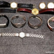 Recambios de relojes: 10 RELOJES PARA REPARAR O PIEZAS. Lote 149297478