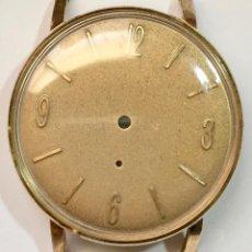 Recambios de relojes: CAJA VITAGE PLAQUÉ ORO FIRMADA CAUNY PRIMA DE LUXE + ESFERA REPINTADA . VER MÁS DE TALLES . . Lote 149305686