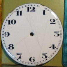 Recambios de relojes: ESFERA PORCELANA RELOJ BOLSILLO GRANDE. Lote 149350358