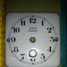 Recambios de relojes: ESFERA PORCELANA KIENZLE - LILIPUT. Lote 149350802