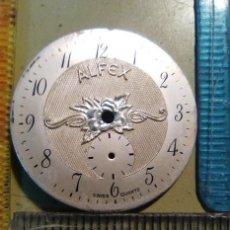 Recambios de relojes: ESFERA - ALFEX BLANCA EN RELIEVE. Lote 149588566