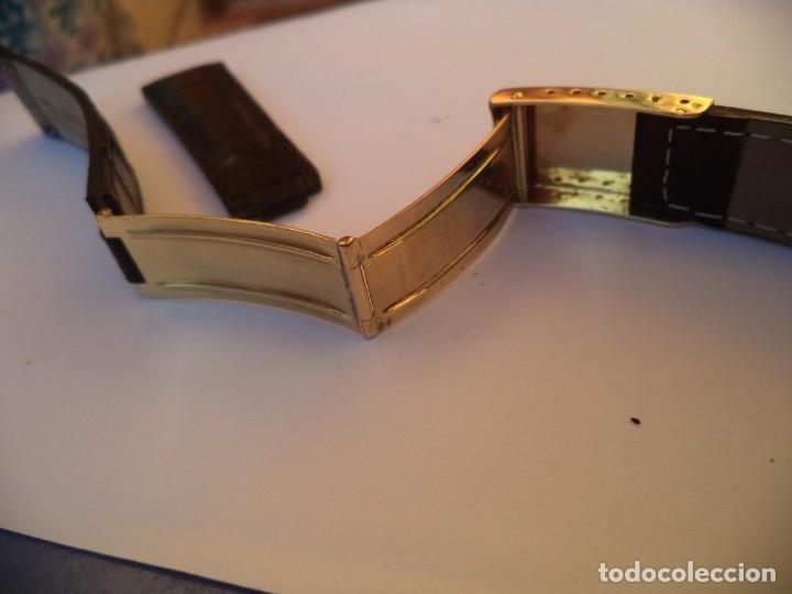 Recambios de relojes: Cierre desplegable Rolex Day Date, o Rolex Date Just de 36 mm. Oro 18 Kilates, y brazalete de piel - Foto 2 - 149887250