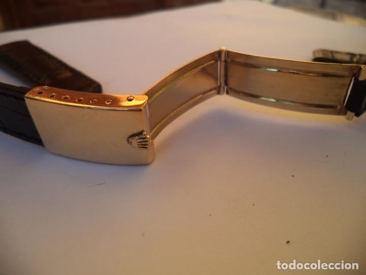Recambios de relojes: Cierre desplegable Rolex Day Date, o Rolex Date Just de 36 mm. Oro 18 Kilates, y brazalete de piel - Foto 5 - 149887250