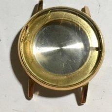 Recambios de relojes: CAJA CHAPADA EN ORO .MEDIDAS : INT 22.Ø-EXT 34 M/M. GRUESO 7,6 M/M. ESFERA 30 M/M.. Lote 150015774