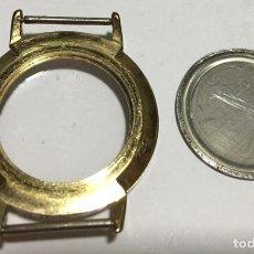 Recambios de relojes: CAJA DE RELOJ VITAGE PLAQUÉ ORO . MEDIDAS : EXT. 34 Ø - INT. 24,6. Ø. Lote 150150078